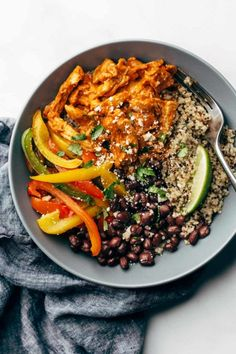 15 minute meal prep: sheet pan chicken tinga bowls