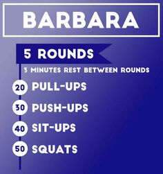 Workout 1: Barbara