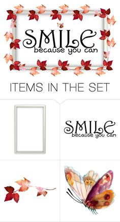 """Smile, because you can"" by louvillia ❤ liked on Polyvore featuring art"