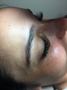 Synthetic lash extensions /side view really shows curl! Lash Extensions, Side View, Curls, Lashes, Ear, Tattoos, Roller Curls, Eyelashes, Tatuajes