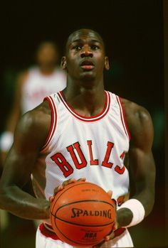 Michael Jordan with the Chicago Bulls