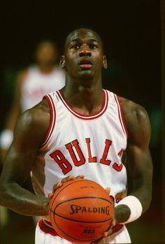 Michael Jordan with the Chicago Bulls