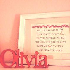 Framed quote for girls room
