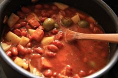 """After several requests and emails describing what I believe is """"habichelas guisadas"""", I am finally posting the recipe. I hadn't posted because….well to be honest it didn't seem interesting to me, but it's not about me, it's about you. You see I grew up eating these beans probably close to 3 times a week if …"""