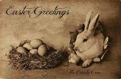 Wishing You Easter Joy! Easter Wishes, About Easter, Spring Has Sprung, Primitive Crafts, Vintage Easter, Heart Art, Rug Hooking, Vintage Advertisements, Happy Easter