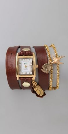 This watch is not available....but lots more wrap-wathches available on this site!  Cute! La Mer Watch. Want