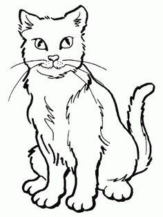 19 Mejores Imágenes De Gatos Colorear Pintar En 2014 Gatito Para