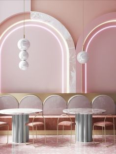 Top 2020 color trends home - 2020 home trends - Möbel Trend - Home Decor Design Café, Cafe Design, Design Trends, Design Ideas, Pink Design, Restaurant Interior Design, Cafe Interior, Colores Art Deco, Pink Restaurant