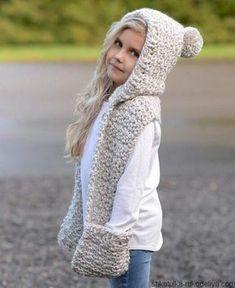 calidad confiable forma elegante Excelente calidad 41 mejores imágenes de bufanda con capucha | Bufanda con ...