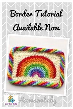 Free Rainbow Crochet Border Tutorial Available in the blog