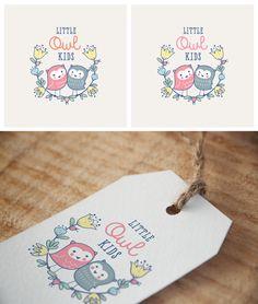 Little Owl Kids online children's clothing boutique logo design by Allynna.
