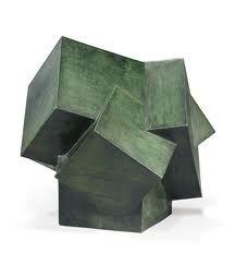 Mathias Goeritz Cubos incrustados, lost-wax cast bronze with green patina, x x cm. Sculpture Metal, Abstract Sculpture, Concrete Sculpture, Contemporary Sculpture, Contemporary Art, Statues, Cg Art, Art Object, Tool Design