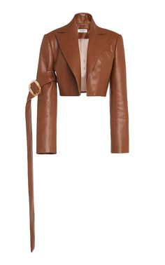 MATÉRIEL's cropped blazer is crafted from a faux leather with a flattering tailored fit. Cropped Leather Jacket, Leather Blazer, Cropped Blazer, Kpop Outfits, Fashion Outfits, Womens Fashion, Classy Outfits, Cute Outfits, Couture Coats