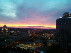 Beautiful Charlotte sunrise from our tower. Taken by resident Shawna Baker.