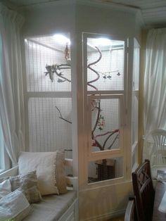 ♥ Pet Bird Cage Ideas ♥ Cage for cockatiels