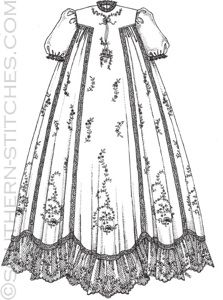 SewNso's Sewing Journal: 31 days of sewing: a passion for design Baby Christening Gowns, Baptism Gown, Little Girl Dresses, Girls Dresses, Baby Dresses, Blessing Dress, Angel Gowns, Dress Tutorials, Heirloom Sewing