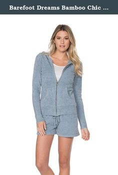 Barefoot Dreams Bamboo Chic Lite Women's Zip Up Hoodie (Medium, Chambray). BAREFOOT DREAMS BAMBOO CHIC LITE HOODIE; Style meets function with this hoodie. Pair it with your favorite jeans or our soft lounge pant. Machine wash cold. Gentle cycle. Do not bleach. Tumble dry low. Cool iron if necessary.