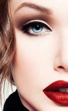Smokey eye with a red lip .....classic
