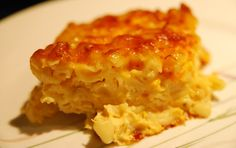 Macaroni Pie- A Change from Mac 'n Cheese | In Search of Yummy-ness