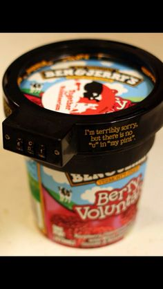 Ben and Jerry's ice cream lock