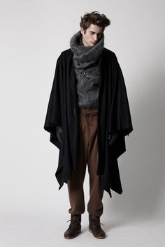 wool cape and big neck from grenzanger A/W 2012