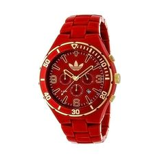 Adidas Men's Melbourne ADH2744 Red Plastic Quartz Watch with Red Dial from Overstock