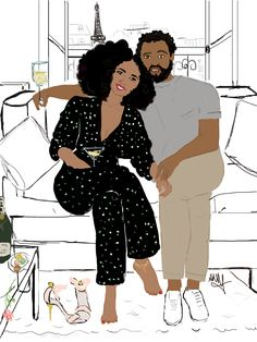 Black Lover In Paree by Nikisgroove on Etsy