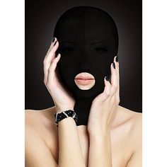 Hood Mask with Mouth Hole. Keep your submissive under your command and incognito with this mouth hole hood mask from OUCH! With impaired vision, the other senses will be awakened so they have all the Dessous Shop, Black Packaging, Sexy Bh, Bh Set, Toy Sale, Catsuit, Submissive, Awards 2017, Black
