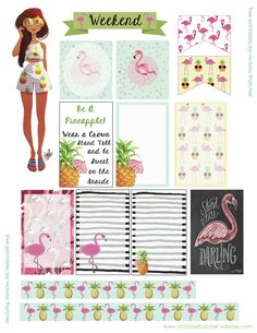 FREE Pineapples and Flamingos Planner by Victoria Thatcher