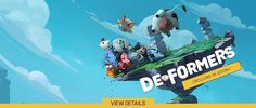 GAME OF THE WEEK Hello Gamers! Prepare for an epic battle! Deformers is a fast and frantic multiplayer party game. Smash up your friends in couch co-op, or team up and fight against others online! The game is fast-paced, chaotic, and infinitely fun Hurry Deal Ends April 21th.   TO BUY CLICK ON LINK BELOW http://tomatovisiontv.wix.com/tomatovision2#!video-games/c1zzn