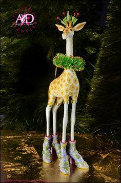 2014 Patience Brewster Krinkles, Janet Giraffe Ornament