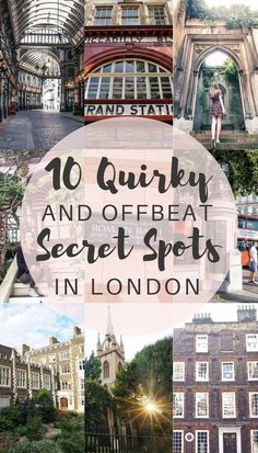 London Travel Inspiration - 10 Quirky, unique and offbeat secret spots in London you'll love! Where to escape the crowds in London, England. London Eye, Sightseeing London, London Travel, London England Travel, Travel Tips England, Places To Travel, Travel Destinations, Places To Go, Reisen In Europa