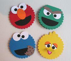 KM Designs: Sesame Street Scallop Circle Die cards