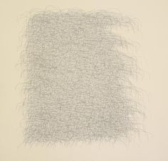 "Wes Mills, No Title (40), 2011, graphite and white powder pigment on paper, 17"" x 17"""