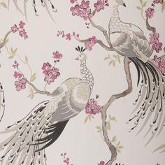 pink and gray peacocks