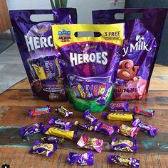 Cadbury Heroes and Milka Dairy Milk Miniature Bars Cadbury World, Tin Tub, Cadbury Chocolate, Pop Tarts, Snack Recipes, Room Ideas, Miniature, Dairy, Sweets