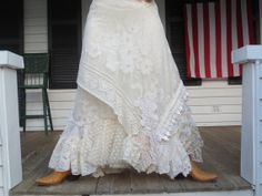 Bohemian Lace Skirt Made in the USA by ArletteMichelle on Etsy, $168.00