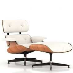 eames lounge chair white ash by herman miller home pinterest