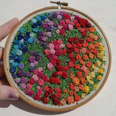 Abstract Embroidery, Embroidery Hoop Art, Hand Embroidery Designs, Embroidery Stitches, Embroidery Patterns, Beaded Embroidery, Garden Embroidery, Beads Pictures, Rainbow Roses