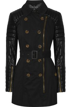 W118 BY WALTER BAKER Keanu quilted faux leather and cotton trench coat $119 http://www.theoutnet.com/products/578993