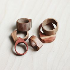 Learn how to make these simple wooden rings. They make a great, easy gift!