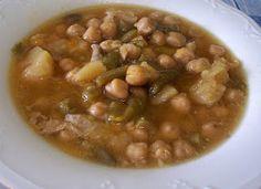 Asopaipas. Recetas de Cocina Casera.: Olla (Cocido de Garbanzos)