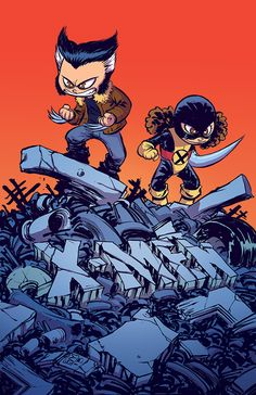 Years of Future Past #1 variant cover - Wolverine and Kitty Pryde by Skottie Young *