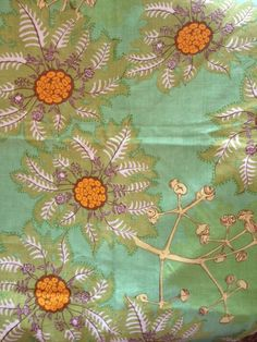 The Designer's Attic - Raoul Textiles Marquesas in green on linen.