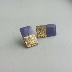 Rectangular Polymer Clay Stud Earrings Resin Post Earrings by Leilahcreations on Etsy Polymer Clay Earrings, Resin, Cufflinks, Stud Earrings, Unique Jewelry, Handmade Gifts, Accessories, Etsy, Vintage