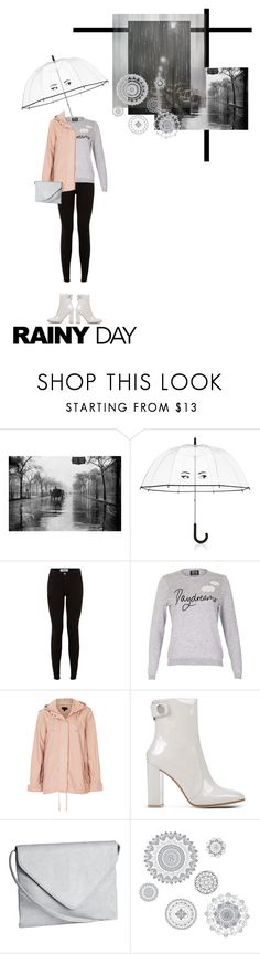 """""""Rainy Day Style"""" by valdep ❤ liked on Polyvore featuring Kate Spade, New Look, Poppy Lux, Topshop, Gianvito Rossi, H&M, WallPops and rainydaystyle"""