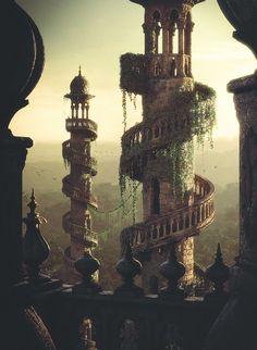 Pin by Faith Evans on Lost Fairytales in 2020 Fantasy landscape Fantasy city Fantasy castle