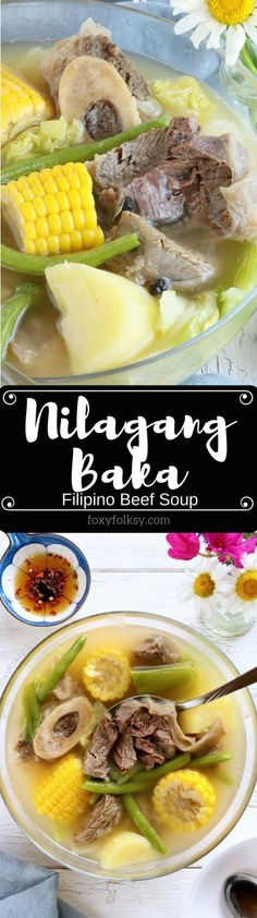 nilagang baka is a filipino beef soup cooked until the meat is really tender and with vegetables like potatoes beans and cabbage that makes this simple