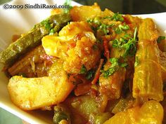 Mixed vegetable curry in Sindhi Style Veg Recipes, Curry Recipes, Indian Food Recipes, Cooking Recipes, Ethnic Recipes, Aloo Recipes, Vegetarian Cooking, Vegetarian Recipes, Bangladeshi Food