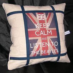Beatles Novelty Pillow Keep Calm and Listen to by AWordFitlySpoken